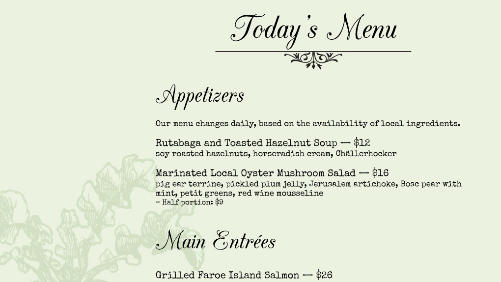 La Restaurant Week  List