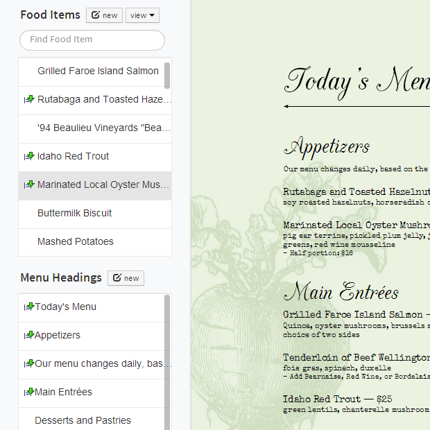 imenupro how to make a restaurant menu change your menu