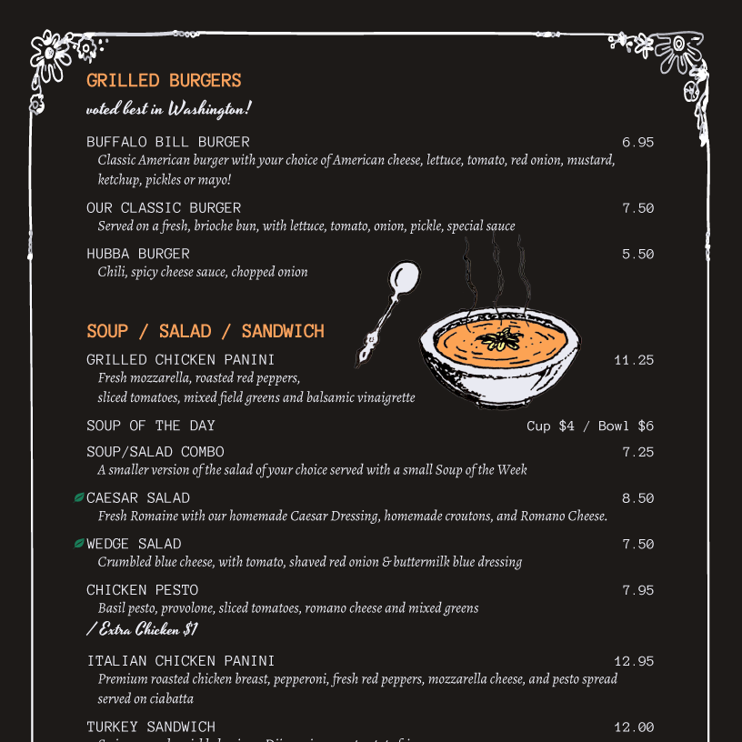 iMenuPro Menu Design Samples and Templates from menu software – Sample Chalkboard Menu Template