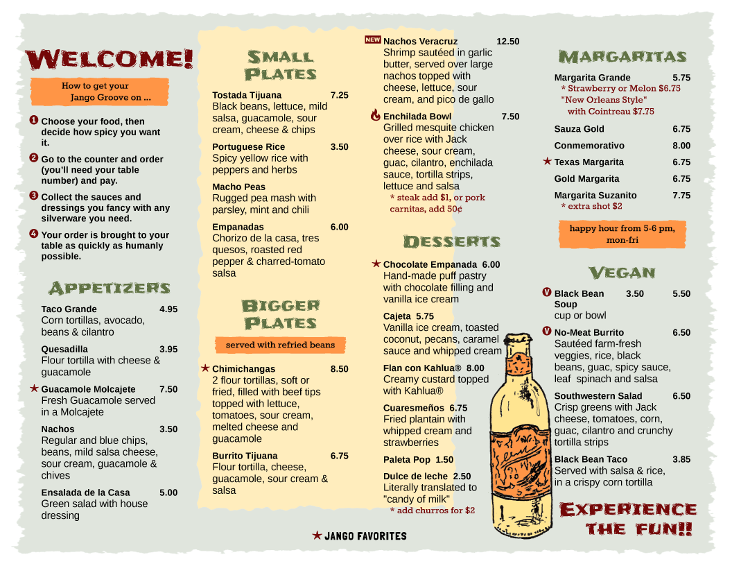 menu design samples from imenupro more than just templates