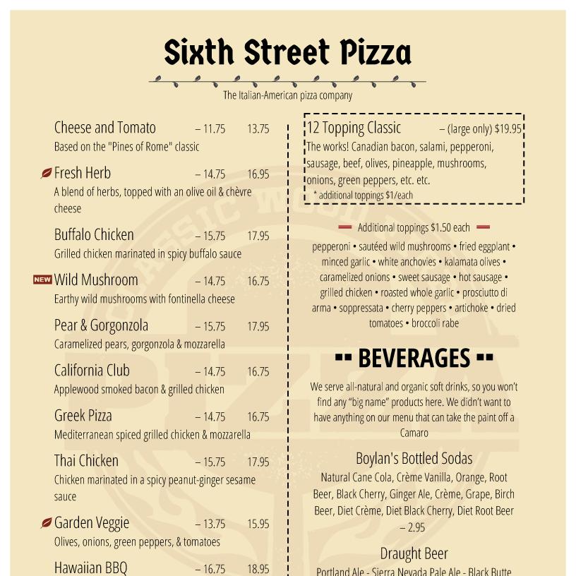 menu design samples from imenupro