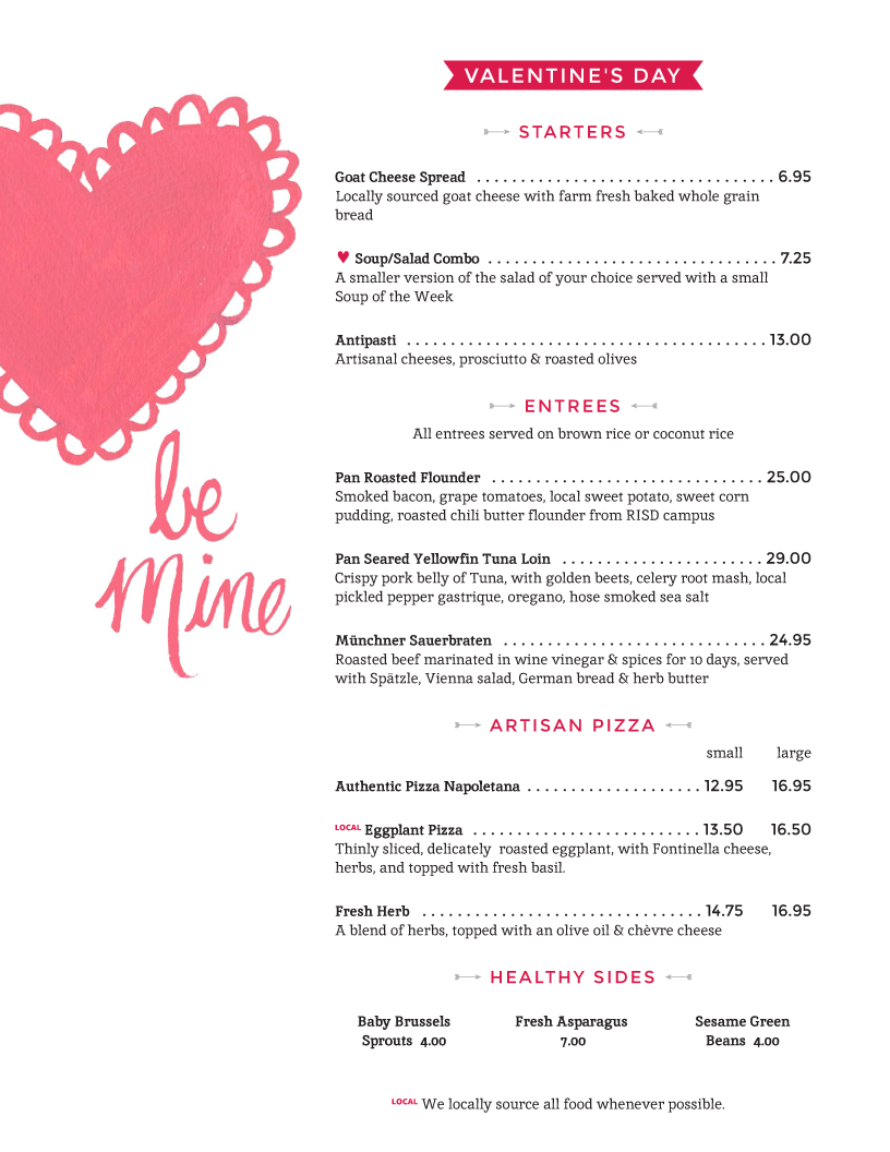 valentine day menu recipes