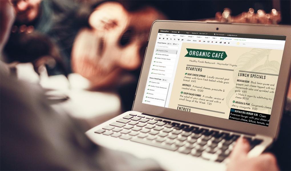 IMenuPro Modern Online Menu Maker For Instant
